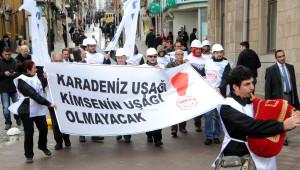 Ankara'ya Yürüyen TMMOB Karadeniz Grubu Giresun'da