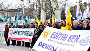 Denizli'de Okulu Boykot Eden Öğretmenler Yürüdü