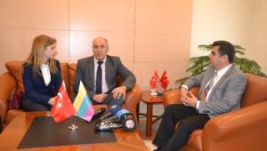 Litvanya Büyükelçisi Kudzmanas'dan Vali Düzgün'e Ziyaret