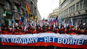 Maydan'ın Yıl Dönümünde Moskova'da Karşı Gösteri