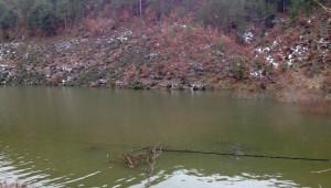 Barajda Sular Yükselince Telefon Hatları Suyun Ortasında Kaldı