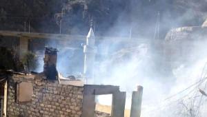 Yusufeli'nde Yangın: 20 Ev Yandı (2)