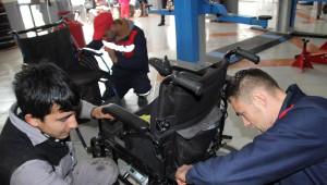 Ordu'da Engelli Araçlarının Bakımını Yapan İşyeri Açtı