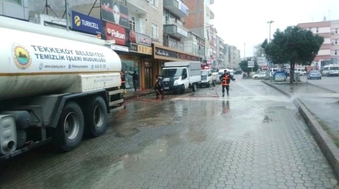 Tekkeköy Belediyesi'nden Temizlik Seferberliği