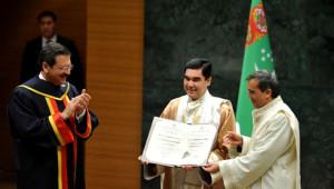 Türkmenistan Devlet Başkanı'na TOBB Üniversitesi'nden Fahri Doktora
