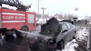 Ağrı'da İki Otomobil Çarpıştı: 5 Yaralı