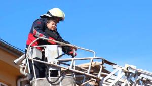 Suşehri'nde İlkokulda Yangın Tatbikatı