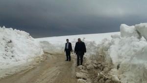 Adilcevaz'da Kar Kalınlığı Bir Metreyi Aşıyor