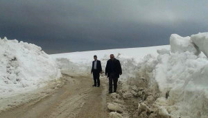 Adilcevaz'da Kardan Kapanan Yollar Açılıyor