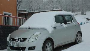 Posof'a Kar Yağdı, Tır Devrildi