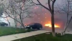 Azerbaycan'da 9 Katlı Binada Yangın