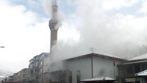Yozgat'ta Tarihi Cami Yandı