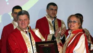 Makedonya Cumhurbaşkanı'na Nevşehir'de Fahri Doktora Unvanı
