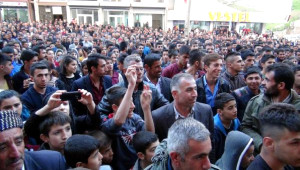 Şırnak'ta Hdp'li Adaylara Coşkulu Karşılama