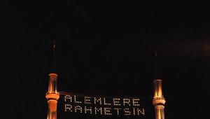 Selimiye Camii'ne 16 Yıl Sonra Mahya Asıldı
