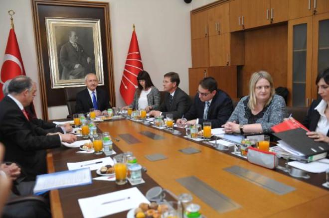 Kılıçdaroğlu, Greco Heyeti ile Görüştü