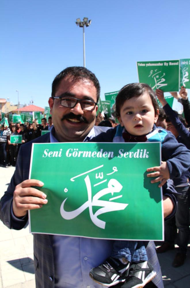Erzincan'da Peygambere Saygı Yürüyüşü Düzenlendi