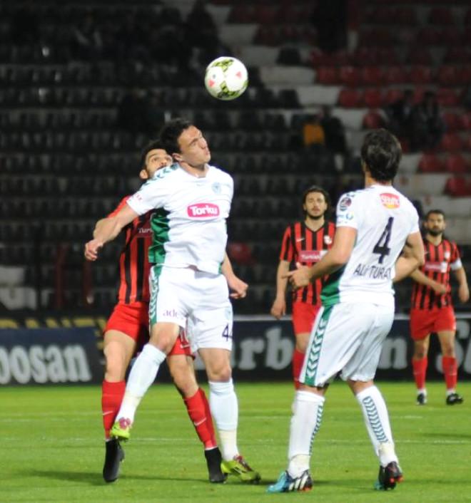 Gaziantepspor-Torku Konyaspor: 1-1