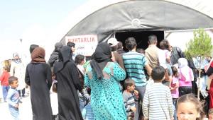 Çadır Kentte Çocuk Felci Aşısı Yapılmaya Başladı