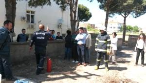 Gömeç'te Sağlıkçılara Yangın Tatbikatı