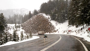 Akseki- Seydişehir Yolu Kar Nedeniyle Kapandı - Ek Fotoğraflar