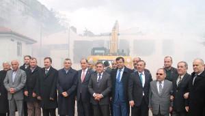 Amasya'da Eski Halk Eğitim Merkezi Binası Törenle Yıkıldı