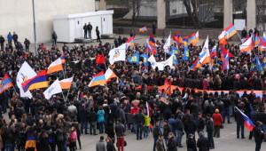 Ermeniler, Rusya'da Gösteri Düzenledi