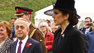 Prenses Mary Çanakkale Şehitlerini Andı