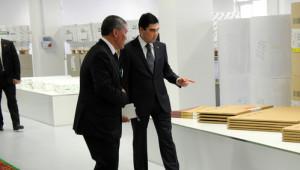Berdimuhamedov, Türk Şirketinin Açılışına Katıldı