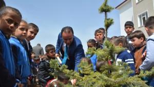 Bitlis'te Fidanlar Toprakla Buluşturuldu
