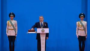 Mazbatasını Alan Nazarbayev, Yemin Etti