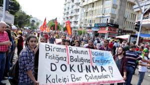 Antalya'da Polis 1 Mayıs Kutlamalarını Uzaktan İzledi (2)