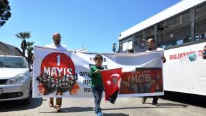Ayvalık'ta İşçiler 1 Mayıs'ı Kutladı