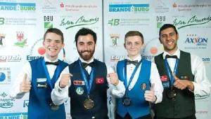 Avrupa Bilardo Şampiyonası'nda Madalya Yağmuru