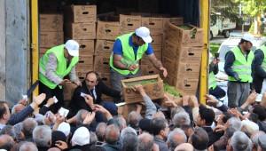 Kayseri'de 500 Bin Domates Fidesi ve 1 Ton Gübre Dağıtıldı