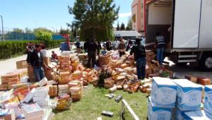 Şekerleme Kutuları İçinde 60 Bin Paket Kaçak Sigara