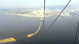 Körfez Köprüsü'nde Kopan Halatı Japon Ekip Söktü