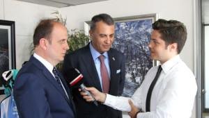 Beşiktaş Başkanı Fikret Orman'a Baykan'dan Ziyaret