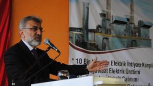 Bakan Yıldız Amasya'da Metan Gazından Elektrik Üreten Tesisi Açtı