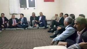 MHP'li Çimen ve Hızarcı, Hasankale'de Seçim Çalışması Yaptı