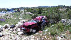Akraba Ziyareti Dönüşü Kaza: 1 Ölü, 2 Yaralı