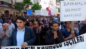 Elazığ'da Açlık Grevindeki İşçiler Yürüyüş Düzenledi