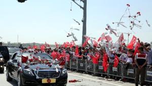 Cumhurbaşkanı Erdoğan'a Kazan'da Coşkulu Karşılama