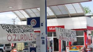 Tuzluca'da Mühürlenen Petrol İstasyonu İşçilerinden Tepki