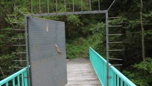 Rize'de Çevre Düşmanlarını Köprüdeki Demir Kapı da Durduramadı