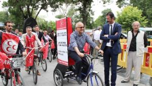 MHP'li Adaydan Bisikletli Seçim Çalışması