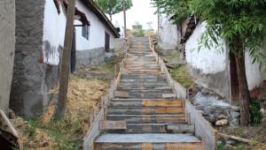 Sungurlu'da Sokak Merdivenleri Yenileniyor