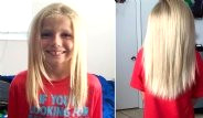 Kanser Hastası Çocuklara Bağışlamak İçin Saçlarını Uzattı