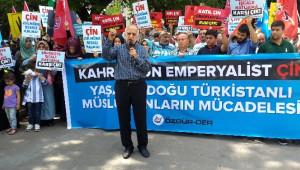 Özgür-der Doğu Türkistan'daki Saldırıları Protesto Etti