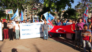 Gaziantep'te Doğu Türkistan Protestosu